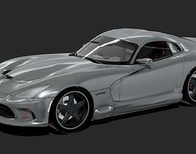 Dodge Viper Super Sport Car 3D model game-ready