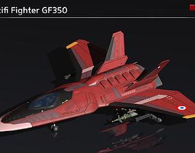3D asset Scifi Fighter GF350