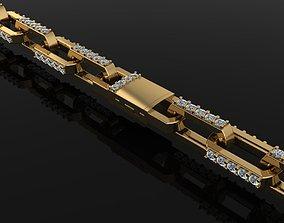 3D printable model HERMES STYLE DIAMOND TENNIS LINK 1