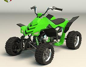 Low Poly ATV 02 3D model