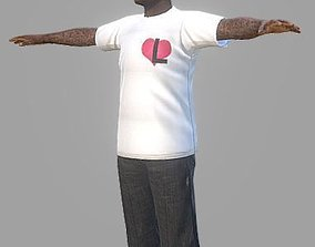 Black Urban Guy 3D model