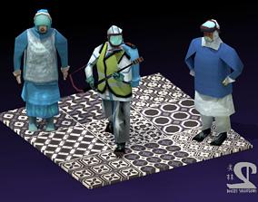 3D asset COVID-19 Hazmat Workers