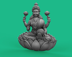 Goddess Laxmi Bas relief 3D printable model jewelry