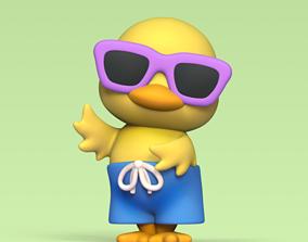 sunglasses Chick with Sunglasses 3D print model