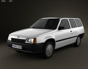 Opel Kadett E Caravan 3-door 1984-1991 3D model