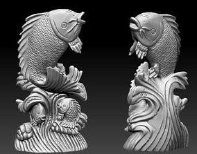 Jumping fish 3D printable model