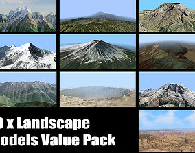 Volcano Mountains Pack 3D