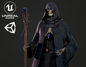 Skeleton Mage - Game Ready 3D model rigged