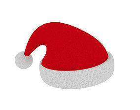 Rigged Christmas Hat 3D asset