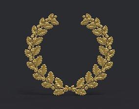 3D printable model Wreath of oak leaves accorn
