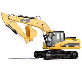 3D model material Hydraulic Excavator