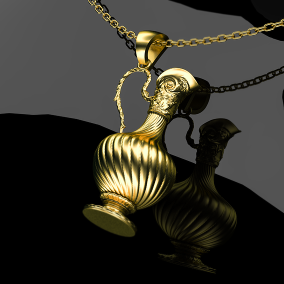 Antique Bottles Pendant Jewelry 3D Print Model 3D print model
