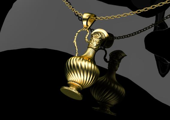 Antique Bottles Pendant Jewelry 3D Print Model 3D print model