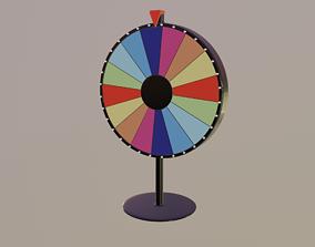 3D model rigged Spinning Wheel