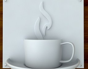 3d printable Coffee sign STL OBJ