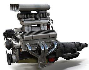 3D model Hot Rod V8 engine