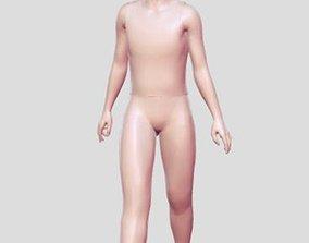 3D printable model Walking woman statue