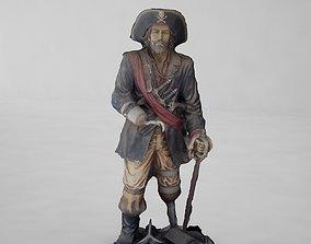 Pirate statue 3D model