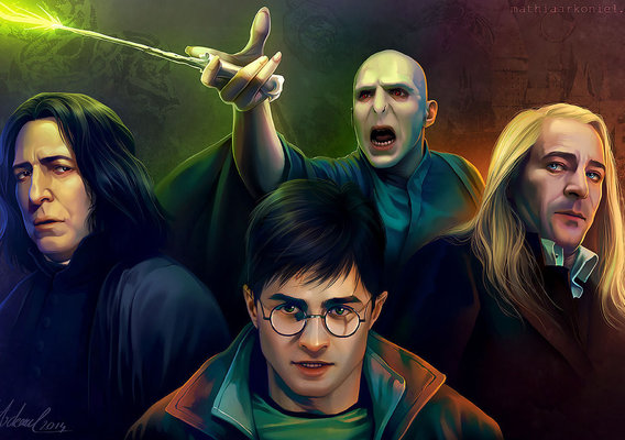 hp: Harry, Snape, Lucius, Voldemort