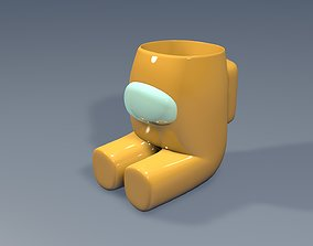 Sitting Crewmate Succulent Plant Vase 3D printable model