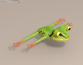 3D Frog cartoon character