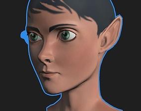 Fantasy Guy Mesh Head 3D model