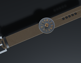 Wrist watch 3D model low-poly
