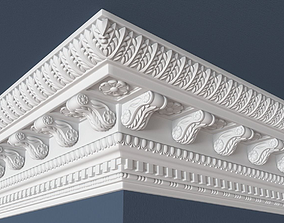 carved Decorative Crown Molding 3D