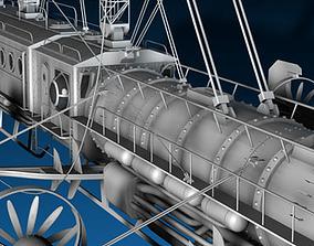 J Verne flying train 3D model