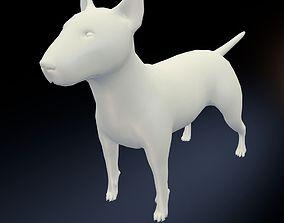 3D model game-ready Bull Terrier