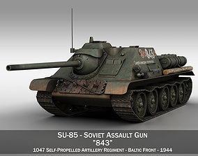 SU-85 - 843 - Soviet Self-Propelled Gun 3D model