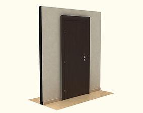 Wooden Door household-hardware 3D model
