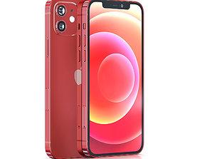 3D asset Apple iPhone 12 RED
