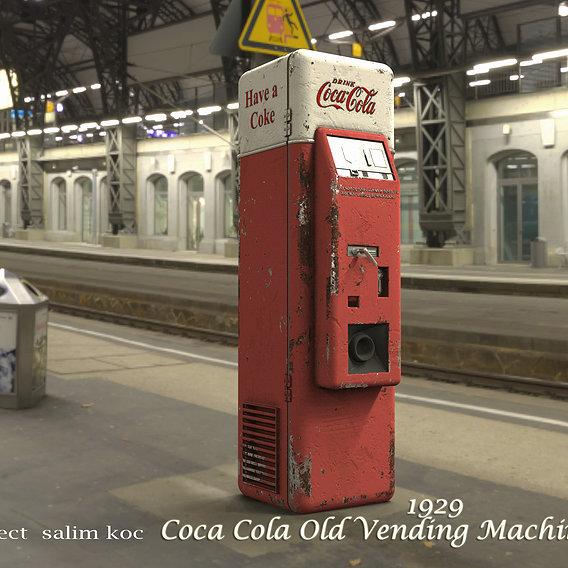 old cola machine