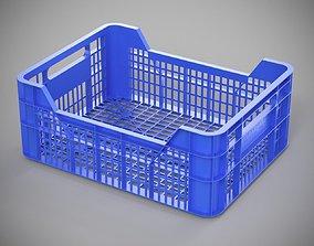 Plastic Fruit Box 3D asset