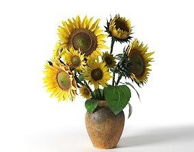 Sunflower in Vase 3D