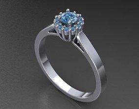 3D printable model Rounded Rosette Ring