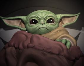 skywalker Baby Yoda Mandalorian 3D Model - 3D Print