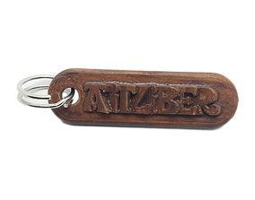 AITZIBER Personalized keychain embossed 3D print model