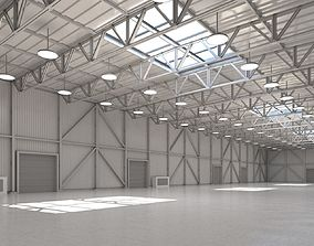 Warehouse 3D model cargo-container