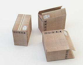 Cardboard Box Set 3D asset