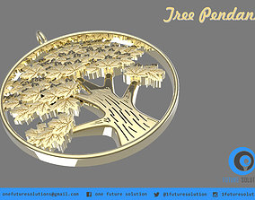 Tree Pendant 3D print model
