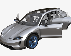 Porsche Mission E Cross Turismo electric 3D