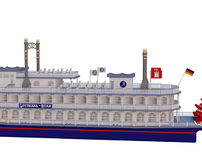 3D model Louisiana Star Paddle Steamer