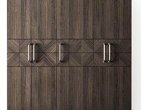 Wood wardrobe modern 3D asset