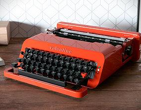 Olivetti Valentine typewriter 3D