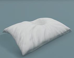 3D asset Crumpled pillow with head mark