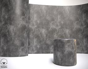 3D model Polished Concrete Cement Texture Walls Ceilling 1