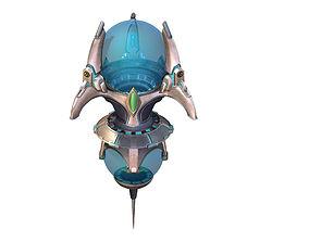 3D Sci Fi Building-Particle Producer 01