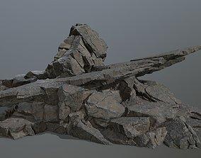 snow 3D asset VR / AR ready rocks